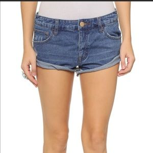 Free People Irresistible Cuffed Jean Shorts sz 27